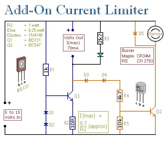 一个附加的电流限制器电路图